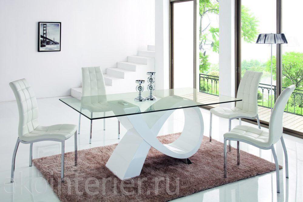 Стеклянный стол со стульями фото